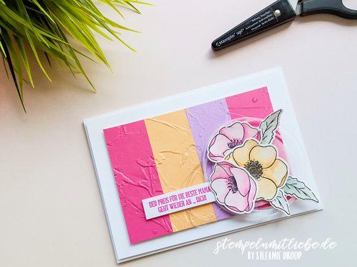 Muttertagskarte in den neuen In Color Farben