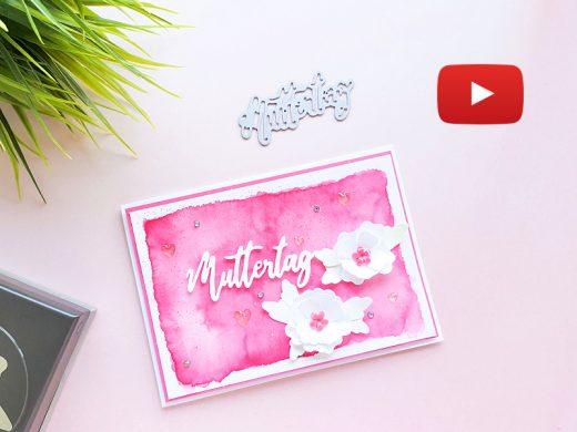 Video: Muttertagskarte mit Freundschaftsblüten