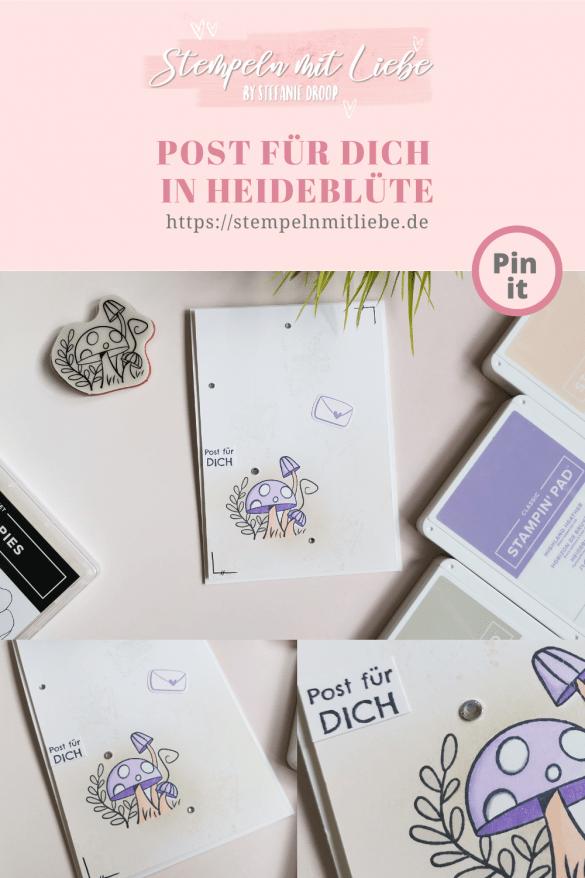 Post für dich in Heideblüte - Stempeln mit Liebe - Stampin' Up! - Stempelset Schneckenpost - Stempelset Painted Poppies