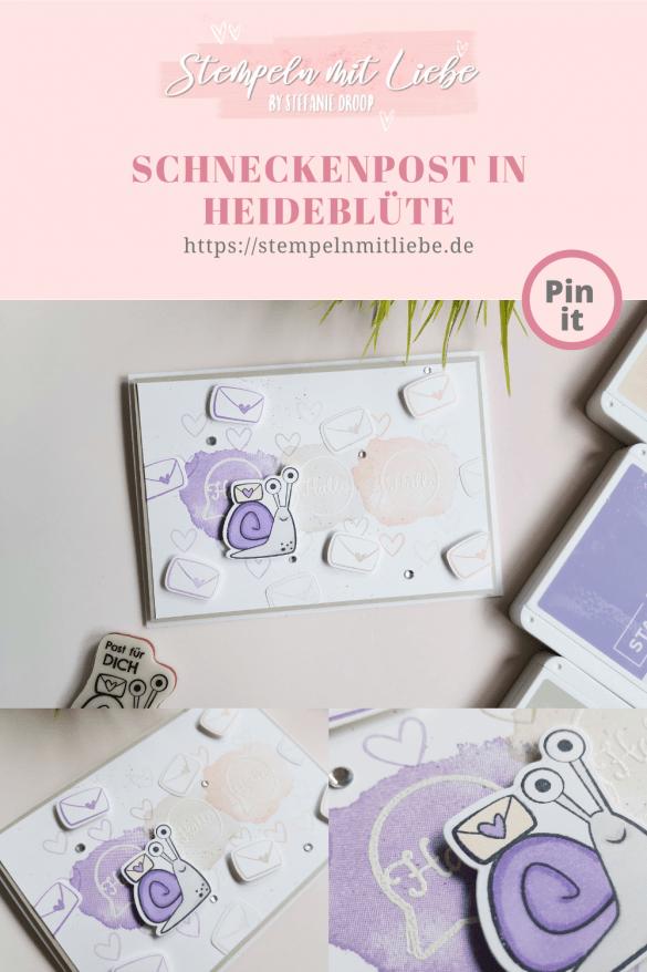Stempeln mit Liebe - Schneckenpost in Heideblüte - Stampin' Up! - Saharasand - Blütenrosa - Stempelset Painted Poppies