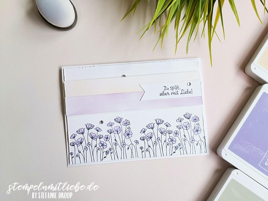Stempeln mit Liebe - Stampin' Up! - Zu Spät mit Mohnblüten - Stempelset Painted Poppies - Stempelset Schneckenpost