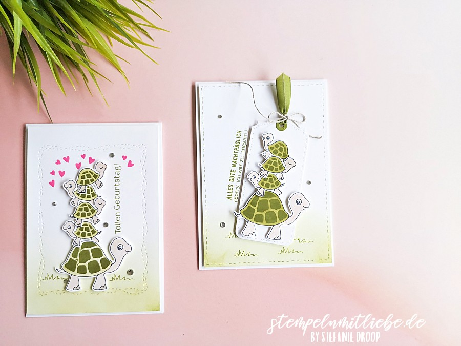 Geburtstagskarten mit Chill-Kröten - Stempeln mit Liebe - Stampin' Up! - Videoanleitung Tutorial