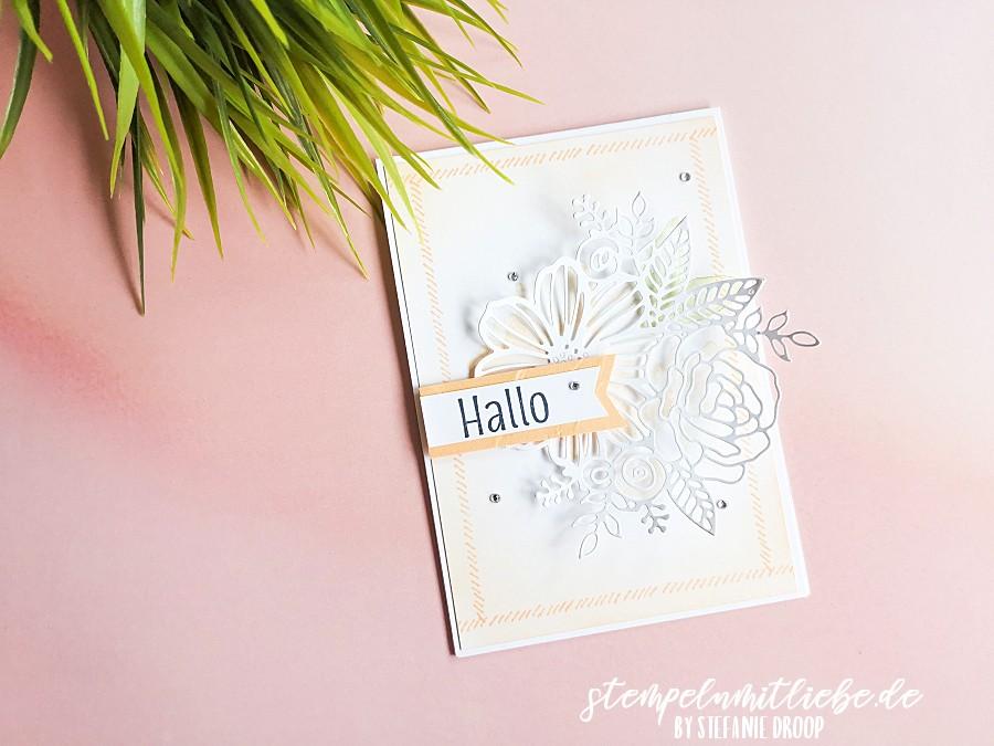 Hallo mit dem Produktpaket Kunstvoll koloriert - Stempeln mit Liebe - Stampin' Up! - Stempelset Stitchery