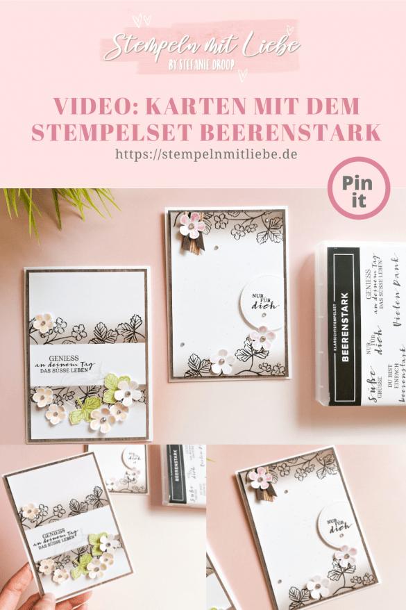 Video: Karten mit dem Stempelset Beerenstark - Stampin' Up! - Stempeln mit Liebe - Espresso