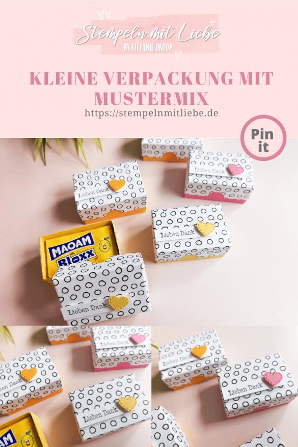 Kleine Verpackung mit Mustermix - Stempeln mit Liebe - Pinterest Pin - Stampin' Up!