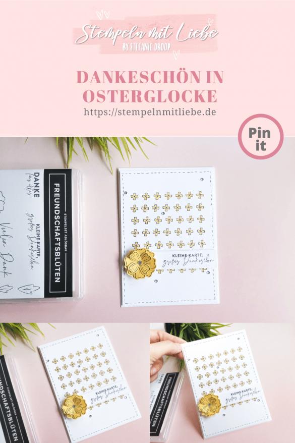 Kleines Dankeschön in Osterglocke - Stempeln mit Liebe -Stampin' Up! - Produktpaket Freundschaftsblüten