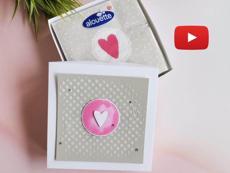 Video: Serviettenverpackung mit Watercolor Shapes