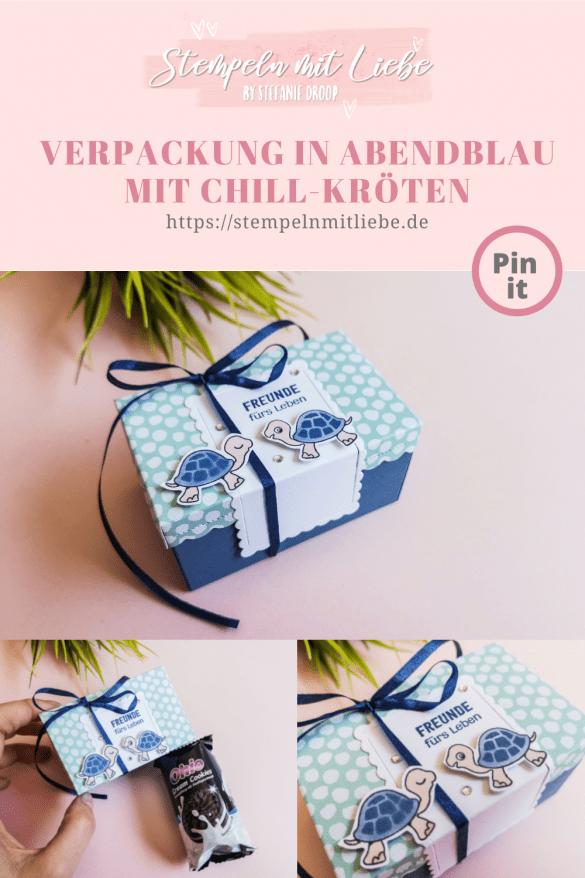 Verpackung in Abendblau mit Chill-Kröten - Stampin' Up! - Stempeln mit Liebe - Designerpapier Mustermix