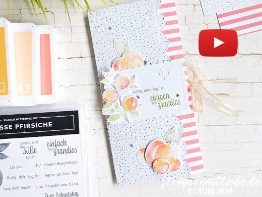 Video: Geburtstagskarte mit Süsse Pfirsiche