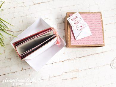 Minialbum in Schachtel mit Schneckenpost