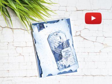 Video: Vintage Karte in Abendblau mit Anhänger nach Mass