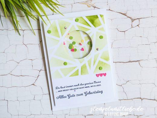 Schüttelfensterkarte zum Geburtstag