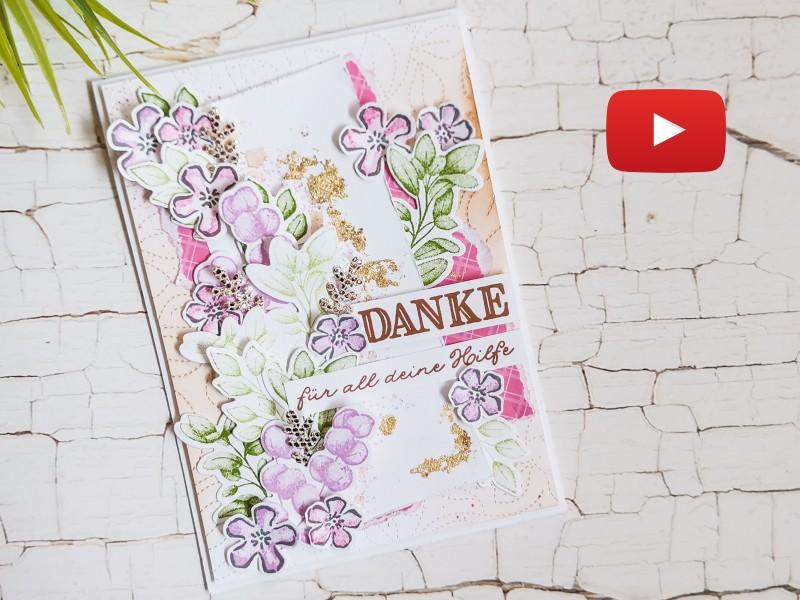 Video: Dankeskarte mit Für alle Zeit