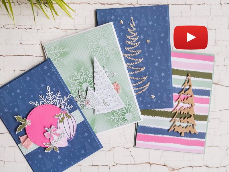 Video: Schnelle Weihnachtskarten mit der Produktreihe Zauber der Feiertage